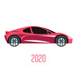 sedan car model 2020 side view and automobile vector image vector image