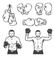 Set of vintage boxing emblems vector image vector image