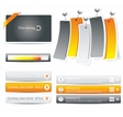 Set of web forms vector image vector image
