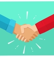 Shaking hands agreement deal vector image vector image