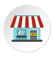 Shop store icon flat style vector image vector image