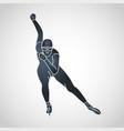 skating logo icon vector image