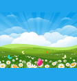 spring flowers meadow landscape vector image vector image