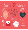 St Valentines Day lettering and cute design