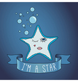 starfish ribbon and slogan vector image