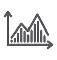stock chart glyph icon graph and finance vector image vector image