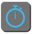 Stopwatch Rounded Square Button vector image