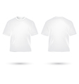 t shirt white vector image vector image