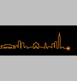 taipei light streak skyline vector image