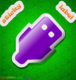 USB icon sign Symbol chic colored sticky label on vector image vector image