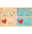 valentine day post card vector image vector image