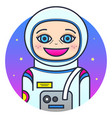 woman astronaut vector image vector image