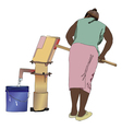 Woman at the well water vector image