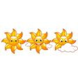 cute suns vector image