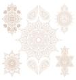 Oriental Mandala Set and Elements vector image