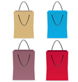 Set of paper colors bags vector image