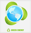 recycle symbol green energy vector image