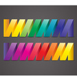 Abstract colorful ribbons vector image vector image