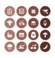 agriculture farm icons universal set for web and vector image vector image