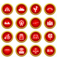 amusement park icon red circle set vector image vector image