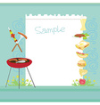 Barbecue Party Invitation with copy space vector image vector image