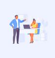 boss reprimands employee vector image