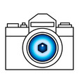 camera and eye vector image vector image