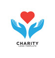 charity logo design template vector image vector image