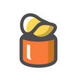 cheese orange box icon cartoon vector image vector image