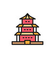 chinese temple traditional church flat vector image