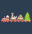 Christmas gingerbread train