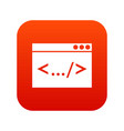 code window icon digital red vector image