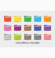 colorful folders icon simple flat style vector image