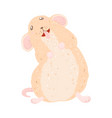 cute rat happy new year and merry christmas vector image vector image