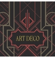 Dark artdeco abstract geometric background vector image vector image