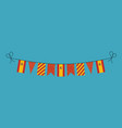 decorations bunting flags for spain national day vector image