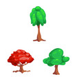 design of tree and nature sign set of tree vector image