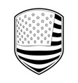 emblem of flag united states of america in vector image