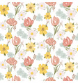 floral seamless pattern with wildflowers and vector image vector image