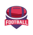 football emblem template with american vector image vector image