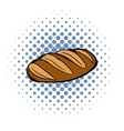 Fresh bread can comics icon vector image vector image