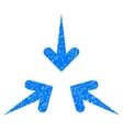 Impact Arrows Grainy Texture Icon vector image vector image