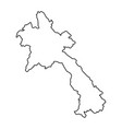 laos map of black contour curves on white vector image vector image