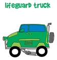 Lifeguard truck collection transportation vector image vector image