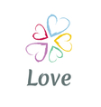 LOVE Happy Valentines day icon vector image vector image