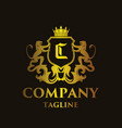 luxury letter c logo vector image vector image
