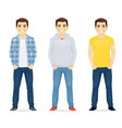 man casual clothers vector image