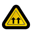 metal emblem warning sign icon vector image vector image