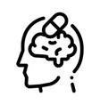 pills drugs man silhouette headache icon vector image vector image