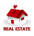 real estate red house logo vector image vector image